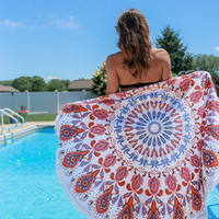 Tropical Vibes Round Towel