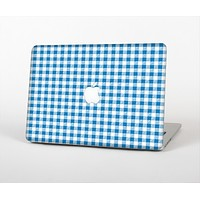 The Blue and White Woven Plaid Pattern Skin Set for the Apple MacBook Air 13""