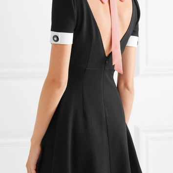 Miu Miu - Crepe-trimmed stretch-twill mini dress