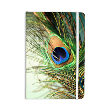 """Sylvia Cook """"Teal Peacock Feather"""" Everything Notebook"""