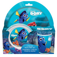Finding Dory 3 Piece Melamine Dinnerware Set