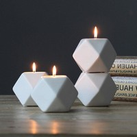 USA Nordic Style Ceramic Geometry Candle Holder Stand Candlestick Home Décor