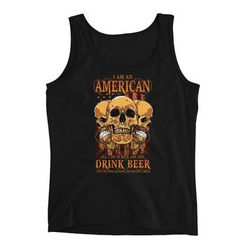Ladies' Tank - I'm An American And All I Do Is Drink