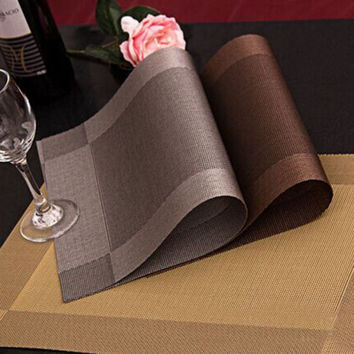 4 Pcs lot Placemat fashion pvc dining table mat disc pads bowl pad coasters waterproof table cloth pad slip-resistant pad