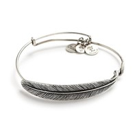 Alex and Ani Quill Feather Wrap - Rafaelian Silver Finish