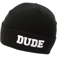 Jac Vanek Dude Black Fold Beanie at Zumiez : PDP