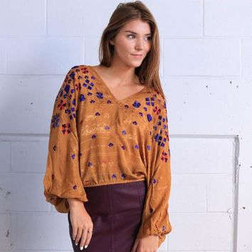 Free People Music in Time Emb Top