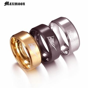 Maxmoon New Design New England PATRIOTS  Ring FOOTBALL TEAM Titanium Steel Unisex Jewelry Sport Style For Fans Gifts