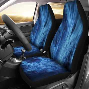 Blue Electrical Abstract Design Seat Covers