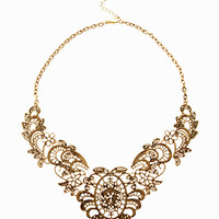 Lovers Place Bronze Lace Necklace