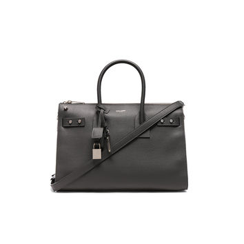 Saint Laurent Small Zipped Supple Sac de Jour Duffel Bag in Storm | FWRD