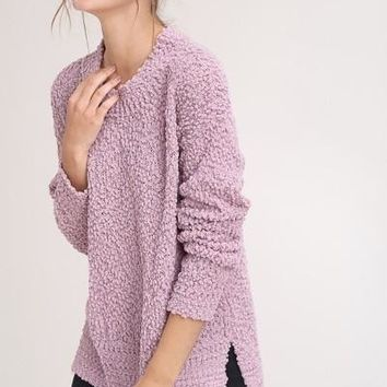 Perfect Pullover Sweater in Mauve