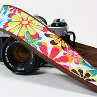 dSLR Camera Strap, Flower Power, SLR