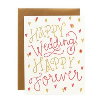 9th Letter Press - Happy Forever