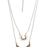 Sun Goddess Layered Necklace | Wet Seal