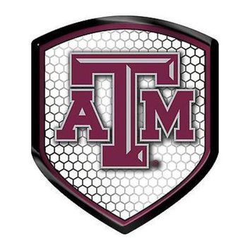 DCCKIHN Texas A&M Aggies Team Shield Reflector Emblem Decal Sticker Auto Home University