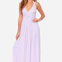 LULUS Exclusive Strike a Minerva Lavender Maxi Dress