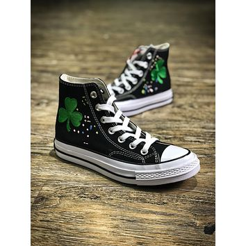 Bandulu Street Couture X Converse Chuck Taylor All Starhigh 1970 Black Mid Casual Shoes