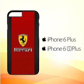 Ferrari Logo Red Carbon X4361 iPhone 6 Plus|6S Plus Case