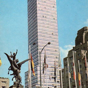 The Latin American Tower. Mexico City (Photo by L. Borodulin & B. Svetlanov) Vintage Postcard - Printed in the USSR, «Planet», Moscow, 1970
