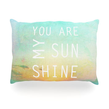 "Alison Coxon ""You Are My Sunshine"" Oblong Pillow"