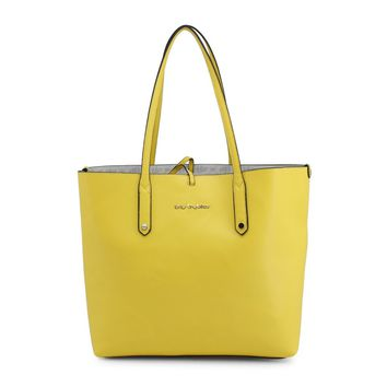 "Women's Bright Yellow ""Blu Byblos BRIGITTE"" Shopping Tote Handbag Purse"