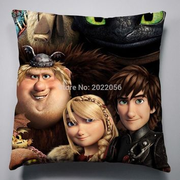 Anime Manga How to Train Your Dragon Pillow 40x40cm Pillow Case Cover Seat Bedding Cushion 001