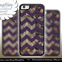 Monogram iPhone 5C 6 6 Plus Case Camo Dark Purple Chevron iPhone 5s iPhone 4 case Ipod 4 5 case Real Tree Personalized Country Inspired Girl