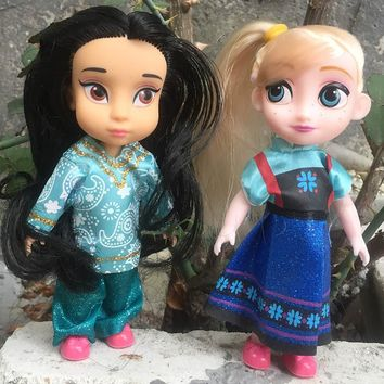 1pc New Sharon Dolls Princess dolls  Elsa Rapunzel Cinderella  fashion dolls for girls Baby Toys