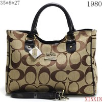 Coach Women Shopping Leather Handbag Tote Satchel Shoulder Bag