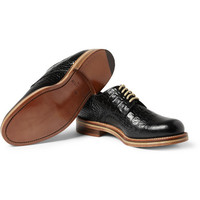 London Collections. Men - Matthew Miller x Grenson Crocodile-Embossed Leather Derby Shoes | MR PORTER