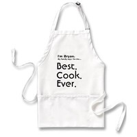 Custom Name Best Cook Ever Apron - Customizable