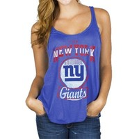 Junk Food New York Giants Ladies Touchdown Tank Top - Royal Blue