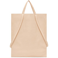 Peach Soft Leather Tote
