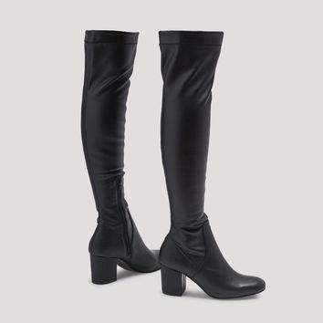 EVIE BLACK LEATHER BOOTS