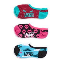 Vans Misty Morning Canoodle Socks 3 Pack (Magenta)