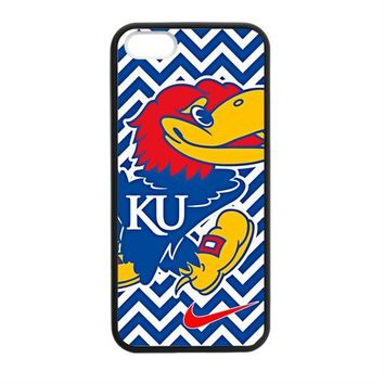HD Picture NCAA Kansas Jayhawks KU Logo Apple Iphone 5S/5 Case Cover TPU Laser Technology NIKE JUST DO IT Chevron CASES COEVERS