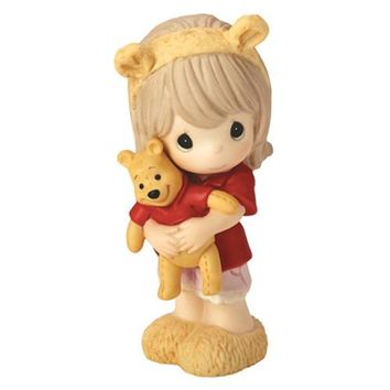 """""""Hunny, There's Nobody Sweeter Than You"""" Disney Winnie The Pooh Figurine, Girl, Porcelain"""