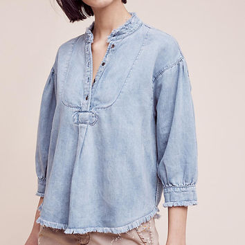 Frayed Chambray Henley