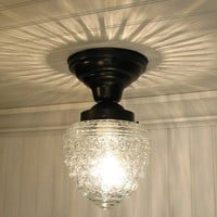 Island Falls II Clear Globe Made CEILING LIGHT New by LampGoods