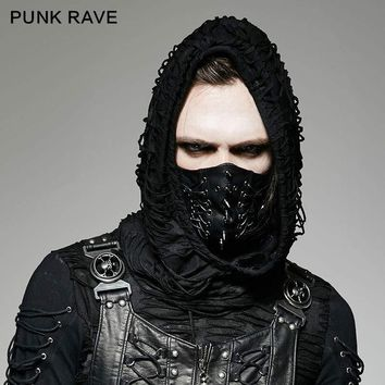 Shadow Assassin High Fashion Goth Masculine Style Face Mask