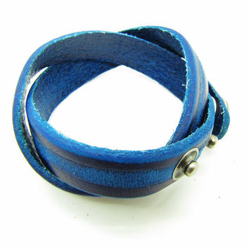 fashion Adjustable Blue Leather Woven Bracelets mens bracelet cool bracelet jewelry bracelet bangle bracelet  cuff bracelet 1042S