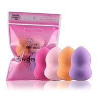 4pcs makeup sponge Pro Beauty Flawless Makeup Blender Foundation Puff Multi Shape Sponges make up bb cream esponja