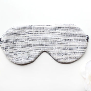 Fall Sleep Mask, Grey Sleep Mask, Satin Eye Mask, Black Sleep Mask, Travel Mask, Cute Mask, Silver Mask