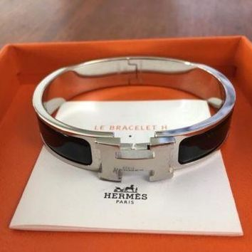 BRAND NEW IN BOX Hermes H Clic Bracelet in Black