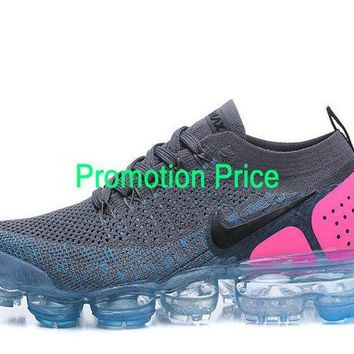 2018 Popular Unisex Nike Air VaporMax Flyknit 2 New Style 2018 Dark Grey Pink Blue newest sneaker