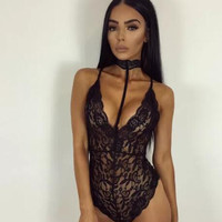 Sexy Deal Cute On Sale Summer Women's Fashion Sexy Slim Lace One-piece Exotic Lingerie