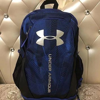 Under Armour 2018 new men's and women's sports backpack F0682-1 Blue