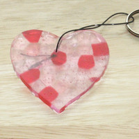 Keychain Heart in Pink and Red