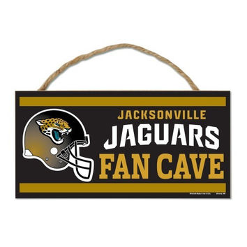 NFL Jacksonville Jaguars Fan Cave Wood Sign with Rope